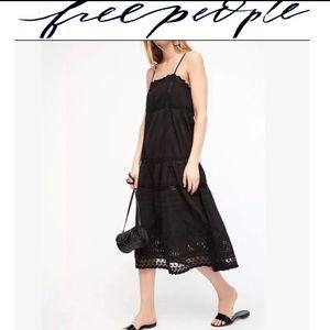 Free people eyelet lace slip dress size M